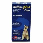 Helfine Plus para Cães Helfine Plus Vermífugo para Cães com 4 Comprimidos Palatáveis