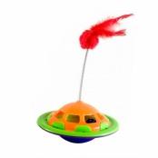 Brinquedo Veterinário para Gato Navcat Truqys Pets Verde e Laranja 1 Unidade