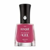 Esmalte Risqué Diamond Gel Cor Hibisco Rosa 9,5ml