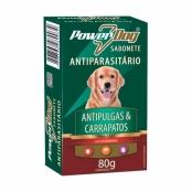 Sabonete Antiparasitário Para Cães Powerdog Antipulgas e Carrapato 80g