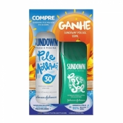 Protetor Solar Sundown Pele Molhada FPS 30 Spray 200ml e Ganhe Gel Pós Sol Sundown Praia e Piscina 130g