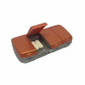 Porta Comprimidos Pilbox Diário Cor Laranja com 4 Compartimentos